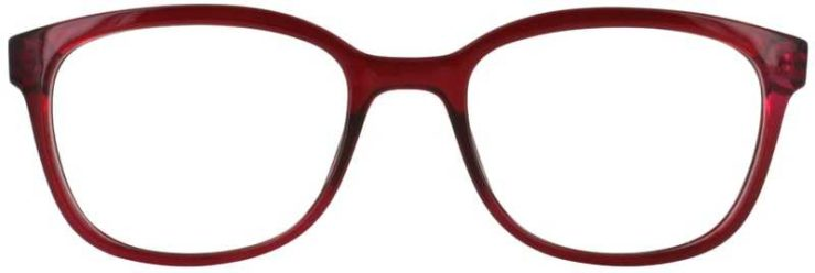 Prescription Glasses Model U203-BURGUNDY-FRONT