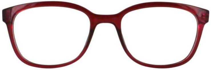 Prescription Glasses Model U203-BURGUNDY-FRONT