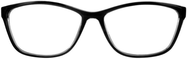 Prescription Glasses Model U204-BLACK-FRONT