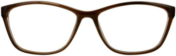 Prescription Glasses Model U204-BROWN-FRONT