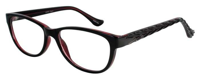 Prescription Glasses Model U206-BLACKWINE-45