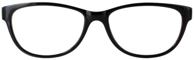 Prescription Glasses Model U206-BLACKWINE-FRONT
