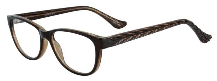 Prescription Glasses Model U206-BROWN-45