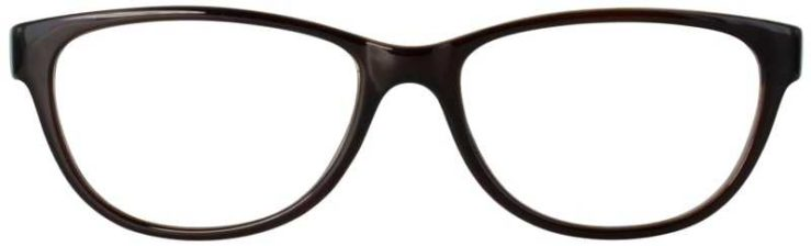 Prescription Glasses Model U206-BROWN-FRONT