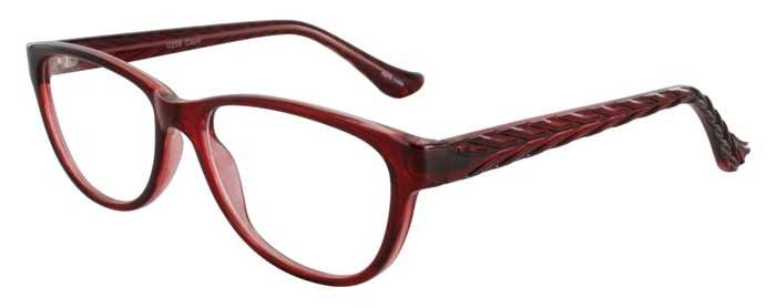 Prescription Glasses Model U206-BURGUNDY-45