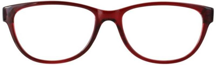 Prescription Glasses Model U206-BURGUNDY-FRONT