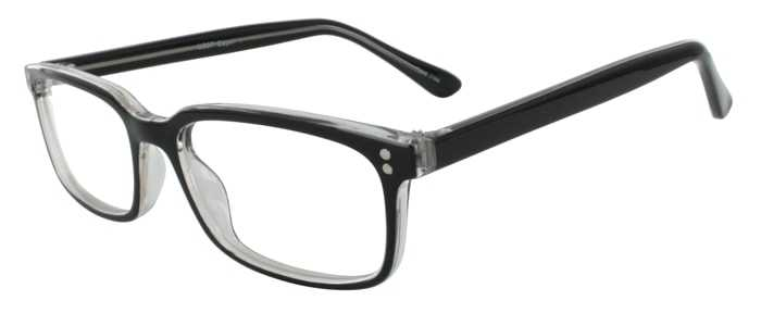 Prescription Glasses Model U207-BLACK-45