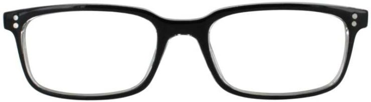 Prescription Glasses Model U207-BLACK-FRONT