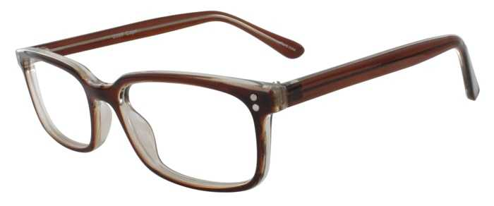 Prescription Glasses Model U207-BROWN-45
