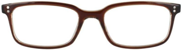 Prescription Glasses Model U207-BROWN-FRONT
