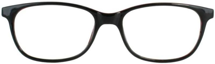 Prescription Glasses Model U208-BLACKWINE-FRONT