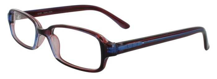 Prescription Glasses Model U21-BROWNBLUE-45