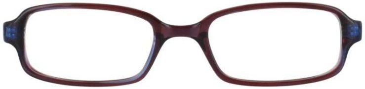 Prescription Glasses Model U21-BROWNBLUE-FRONT