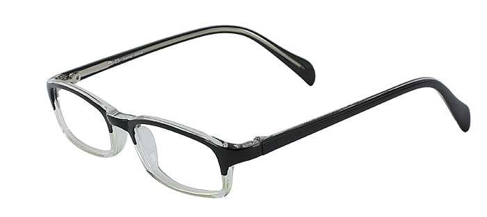 Prescription Glasses Model U23-BLACK-CRYSTAL-45