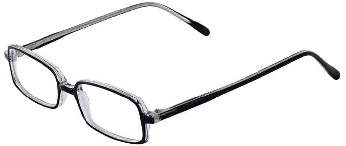 Prescription Glasses Model U28-BLACK CRYSTAL-45