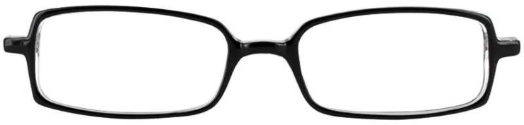 Prescription Glasses Model U28-BLACK CRYSTAL-FRONT