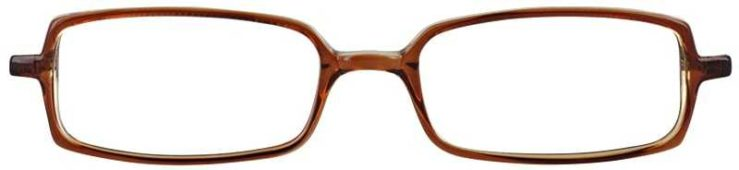 Prescription Glasses Model U28-BROWN-FRONT