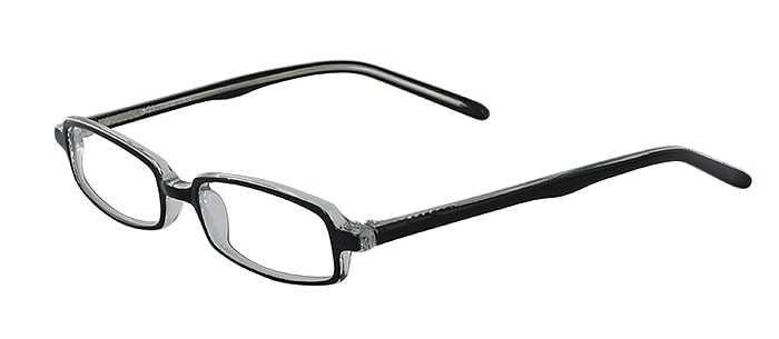 Prescription Glasses Model U31-BLACK-CRYSTAL-45