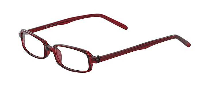 Prescription Glasses Model U31-BURGUNDY-45