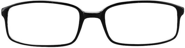 Prescription Glasses Model U32-BLACK-FRONT