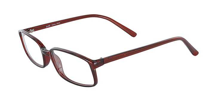 Prescription Glasses Model U32-BROWN-45