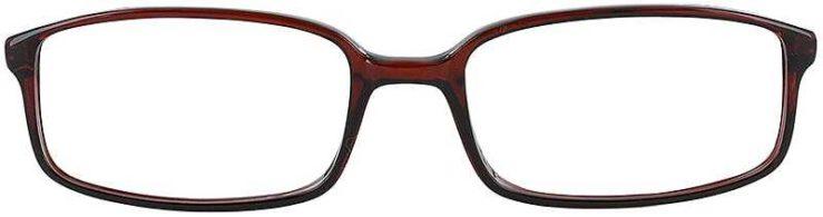 Prescription Glasses Model U32-BROWN-FRONT