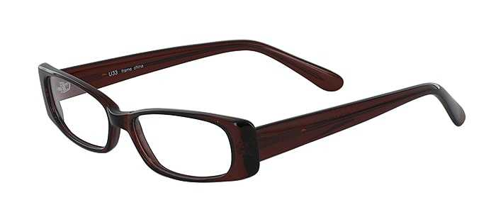 Prescription Glasses Model U33-BROWN-45