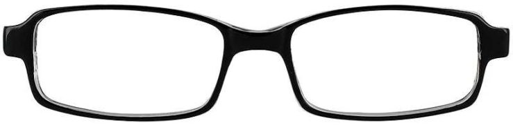 Prescription Glasses Model U34-BLACK-FRONT