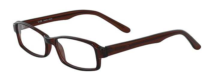 Prescription Glasses Model U34-BROWN-45