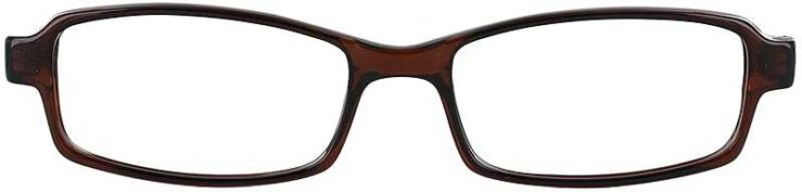 Prescription Glasses Model U34-BROWN-FRONT