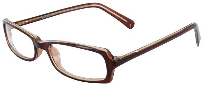 Prescription Glasses Model U35-BROWN-45