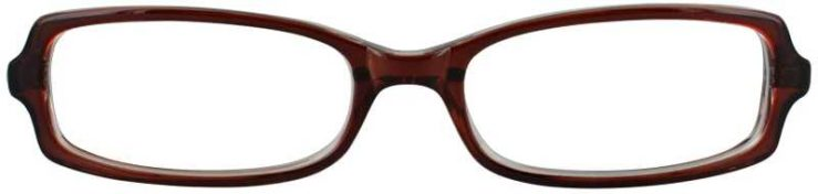 Prescription Glasses Model U35-BROWN-FRONT