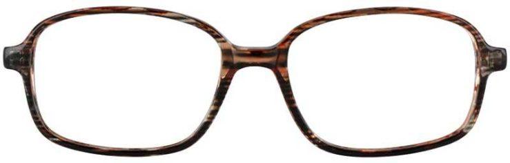 Prescription Glasses Model U36-BROWN-FRONT