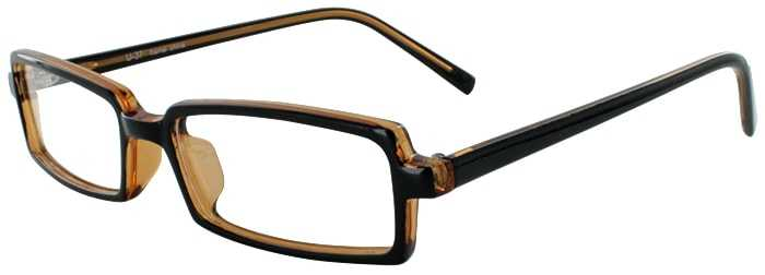 Prescription Glasses Model U37-BLACK AMBER-45