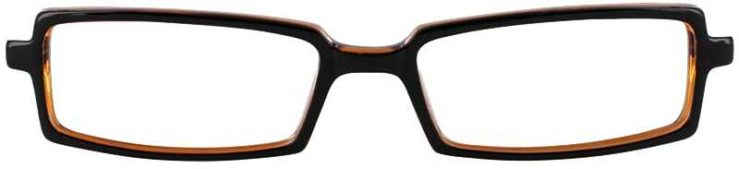 Prescription Glasses Model U37-BLACK AMBER-FRONT