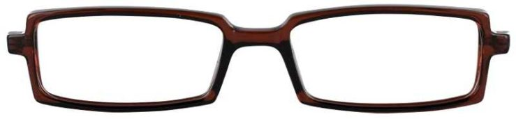 Prescription Glasses Model U37-BROWN-FRONT