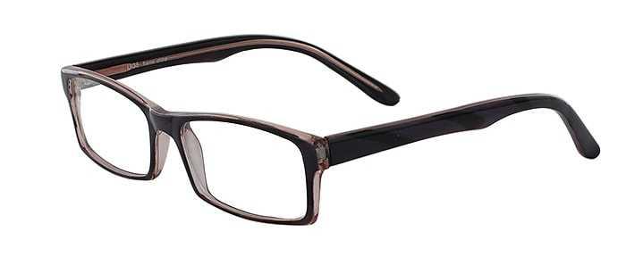 Prescription Glasses Model U38-BLACK-45