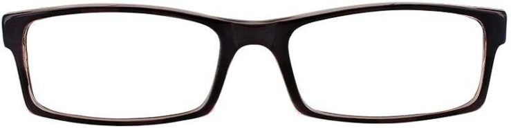 Prescription Glasses Model U38-BLACK-FRONT