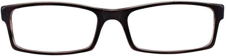 Prescription Glasses Model U38-BLACK-FRONT