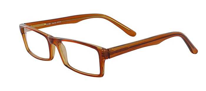 Prescription Glasses Model U38-BROWN-45