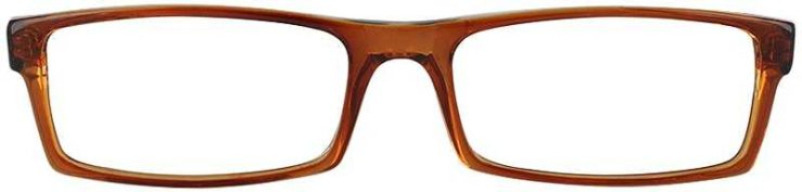 Prescription Glasses Model U38-BROWN-FRONT