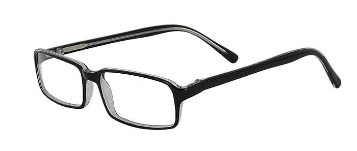 Prescription Glasses Model U39-BLACK-CRYSTAL-45