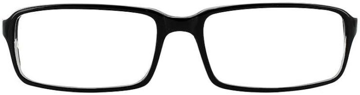 Prescription Glasses Model U39-BLACK-CRYSTAL-FRONT