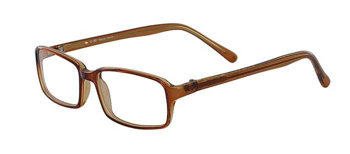 Prescription Glasses Model U39-BROWN-45