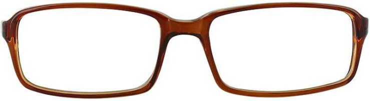Prescription Glasses Model U39-BROWN-FRONT