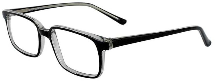 Prescription Glasses Model U40-BLACK-CRYSTAL-45
