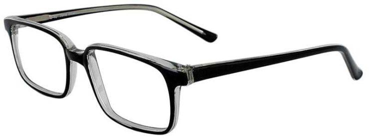Prescription Glasses Model U40-BLACK-CRYSTAL-45