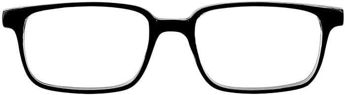 Prescription Glasses Model U40-BLACK-CRYSTAL-FRONT