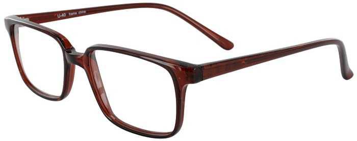 Prescription Glasses Model U40-BROWN-45