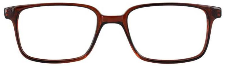 Prescription Glasses Model U40-BROWN-FRONT